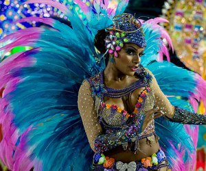 brazil, carnival, and colorful image