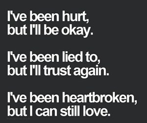 love, hurt, and quote image