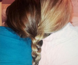 best friends, love, and hair image