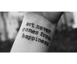 art, happiness, and tattoo image