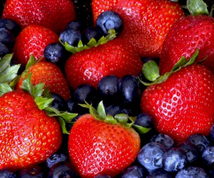 strawberry, berries, and blueberry image