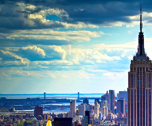 beautiful, clouds, and city image
