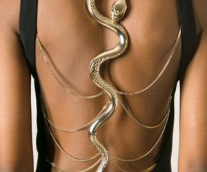 dress, snake, and black image