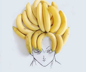 banana, anime, and goku image