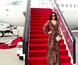airplane, dress, and luxury image