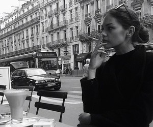 black and white, beauty, and city image