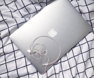 apple, earphones, and grid image