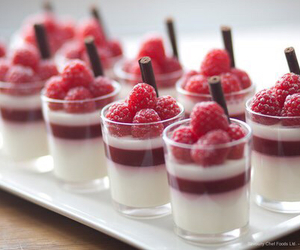 dessert, food, and raspberry image