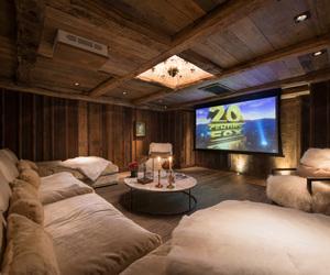 house, cinema, and home image