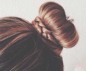 hair, bun, and hairstyle image
