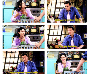 bff, chandler, and courtney cox image