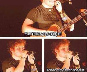 ed sheeran, funny, and ed image