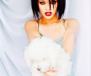 rihanna and dog image