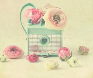flowers, pastel, and retro image