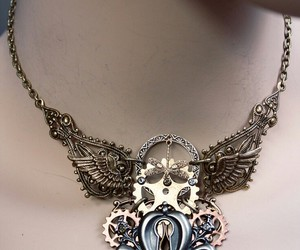 necklace, steampunk, and accessories image