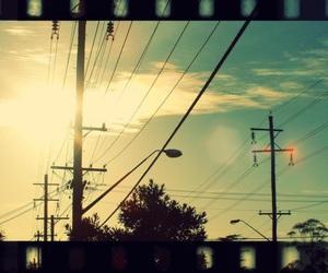 powerlines, vintage, and sky sun afternoon vintage image