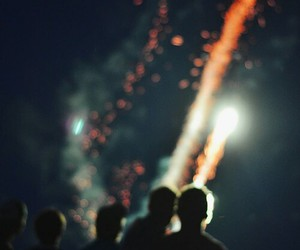 fireworks, night, and vintage image