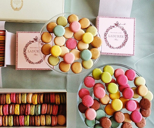 macarons and food image