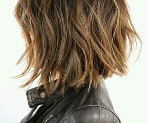 hair, short hair, and hair style image