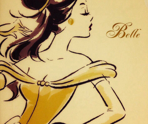 beauty and beast, belle, and disney image