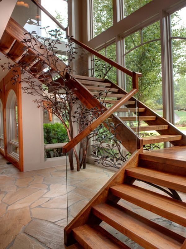 Outdoor Wood Stairs Design Ideas