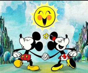 disney, minnie mouse, and love image