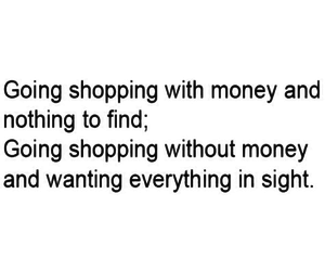 quote, funny, and shopping image