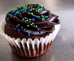 cupcake, food, and chocolate image