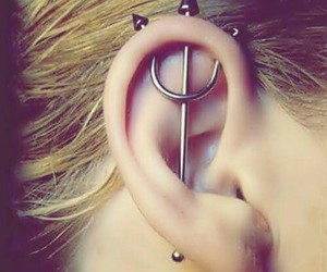 ear, piercing, and wow image