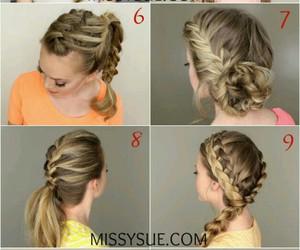 braid, braid style, and hair style image