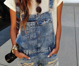dungarees, sunglasses, and jeans image