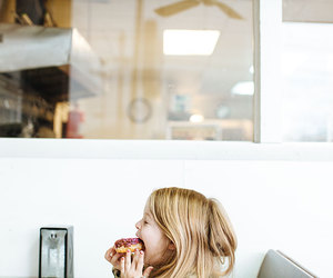 girl, donuts, and inspiration image