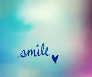 smile, wallpaper, and blue image