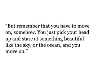move on, ocean, and quote image