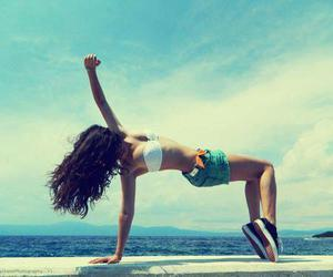 girl, summer, and dance image