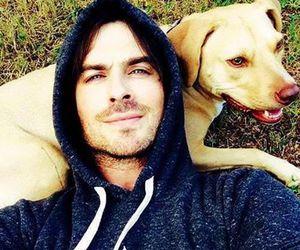 ian somerhalder, dog, and ian image