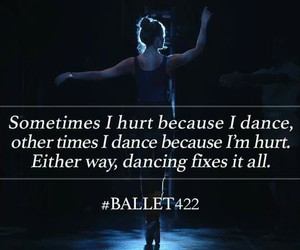ballerina, quote, and ballet image