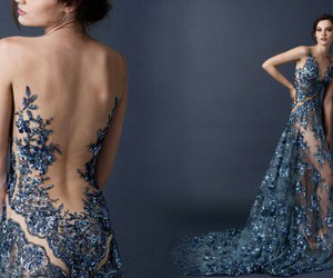 dress, blue, and paolo sebastian image
