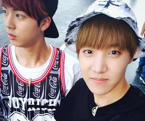 j-hope, jin, and bts image