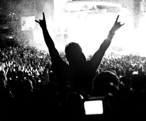 amazing, black and white, and crowd image
