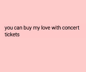 concert, love, and buy image