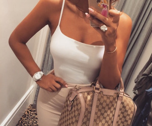 bag, outfit, and fit image