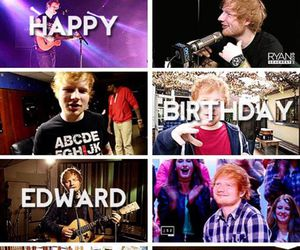 happy birthday and ed sheeran image