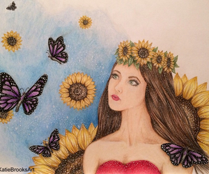 art, artist, and colored pencil image