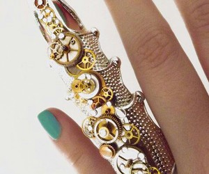 ring, steampunk, and silver accessory image