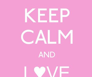 keep calm, pumps, and pink image