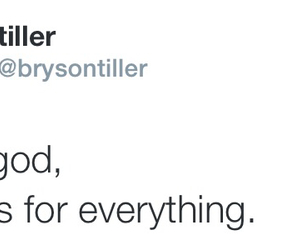 god, tweet, and bryson tiller image