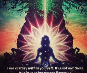 meditation, phrases, and spiritual image