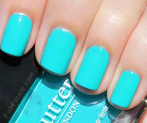 nails, blue, and nail polish image
