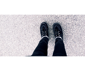 black white, creepers, and fashion image